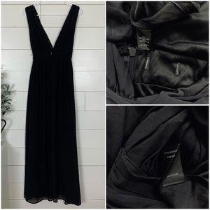 Lulu's Dresses - NWOT Lulus Heavenly Hues Black Maxi Dress